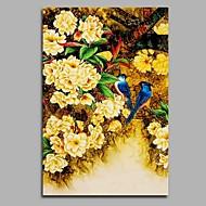 Pintados à mão Vintage Vertical,Artistíco Inspirado da Natureza Aniversário Moderno/Contemporâneo Escritório/Negócio Pastoril Natal Ano