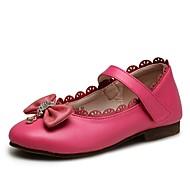 お買い得  フラワーガールシューズ-女の子 靴 レザーレット 春夏 コンフォートシューズ / フラワーガールシューズ / ライト付きソール フラット リボン / スパークリンググリッター / 面ファスナー のために ホワイト / フクシャ / パーティー
