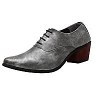 Masculino sapatos Micofibra Sintética PU Primavera Outono Sapatos formais Oxfords Cadarço Para Festas & Noite Preto Cinzento Azul Vinho