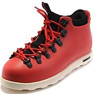 メンズ 靴 化繊 秋 冬 ブーティー スニーカー ブーティー/アンクルブーツ 編み上げ 用途 カジュアル パーティー ブラック グレー レッド