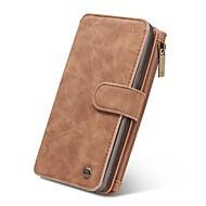 Etui Käyttötarkoitus Samsung Galaxy Note 8 Note 5 Lomapkko Korttikotelo Flip Magneetti Kokonaan peittävä Yhtenäinen väri Kova Nahka varten