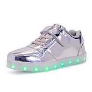 Para Meninos sapatos Micofibra Sintética PU Outono Inverno Conforto Tênis com LED Tênis Cadarço Velcro Para Casual Festas & Noite Dourado