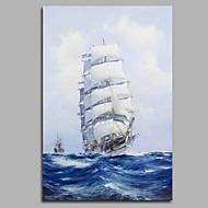 baratos -Pintura a Óleo Pintados à mão - Paisagem Moderno / Contemporâneo Tela de pintura