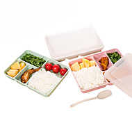 Tarwe Stro plastic plastic Magnetron Servies Lunch Bento Box Eten Opslagbakken Lunchboxen