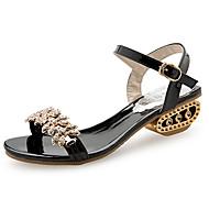 Žene Cipele PU Ljeto Udobne cipele Sandale za Vanjski Zlato Crn Pink