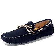 メンズ 靴 PUレザー 春 秋 ダイビングシューズ ボート用シューズ リボン 用途 カジュアル ダークブルー Brown グリーン