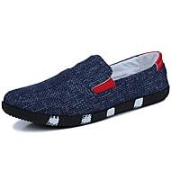 メンズ 靴 繊維 春 秋 ライト付きソール ローファー&スリップアドオン 用途 カジュアル ブラック ブルー ライトブルー