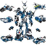 Sada na domácí tvoření Stavební bloky Letadlo Fighter Hračky Robot Lidé Automobily Udělej si sám Klasické Nový design Dospělé Pieces