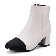 Femme Chaussures Similicuir Automne Hiver Bottes à la Mode Botillons Bottes Gros Talon Bout fermé Bottine/Demi Botte Fermeture Combinaison