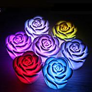 1kpl ruusu kukka väri muuttuu yövalo johti sisustus häät osapuoli