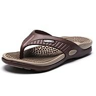 Herren Schuhe PU Frühling Herbst Komfort Slippers & Flip-Flops Schnürsenkel Für Normal Orange Gelb Braun Rot Grün