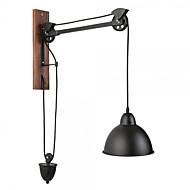 tanie Kinkiety Ścienne-Wiejski Vintage Kraj Lampy ścienne Na Metal Światło ścienne 110-120V 220-240V 60W