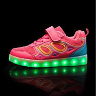 olcso -Lány cipő Szintetikus Mikrorost PU Tavasz Ősz Kényelmes Világító cipők Tornacipők Fűző Kompatibilitás Hétköznapi Party és Estélyi Fekete