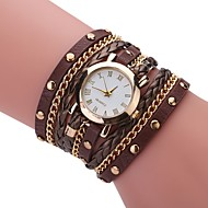 Herre Dame Unik Creative Watch Armbåndsur Modeur Kinesisk Quartz Hot Salg PU Bånd Vedhæng Afslappet Elegant Sort Hvid Blåt Rød Brun Gråt