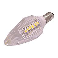 billige Stearinlyslamper med LED-3W 260lm E14 LED-lysestakepærer T 40 LED perler SMD 2835 Varm hvit Kjølig hvit 220-240V