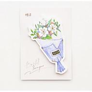 1 st boeket bloemen zelfklevende notenset (willekeurige kleur) voor school / kantoor
