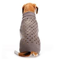Χαμηλού Κόστους Προμήθειες για κατοικίδια-Γάτα / Σκύλος Παλτά / Πουλόβερ / Χριστούγεννα Ρούχα για σκύλους Πούλια Γκρίζο Spandex / Βαμβάκι / Μείγμα Λινού Στολές Για κατοικίδια Πάρτι / Στολές Ηρώων / Καθημερινά