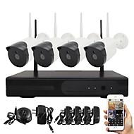 YanSe® 960P Plug and Play Wireless NVR Kits P2P 1.3MP HD IR Night Vision Security IP Camera WIFI CCTV System Remote