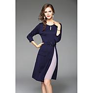 Žene Chic & Moderna Korice Haljina Color block Midi