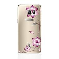 Etui Til Samsung Galaxy S8 Plus S8 Transparent Mønster Bagcover Blomst Blødt TPU for S8 Plus S8 S7 edge S7 S6 edge plus S6 edge S6 S5 S4