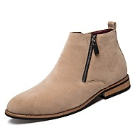 baratos Sapatos Masculinos-Homens Sapatos formais Camurça Outono / Inverno Botas Preto / Bege / Marron