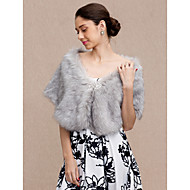 cheap -Faux Fur Wedding / Party / Evening Women's Wrap With Rhinestone Capelets