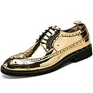 Muškarci Cipele Lakirana koža Jesen Zima svečane cipele Oksfordice za Kauzalni Zabava i večer Zlato Crn Pink