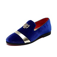 Men's Shoes Suede Fall Winter Comfort Loafers & Slip-Ons Sparkling Glitter For Casual Party & Evening Black Royal Blue