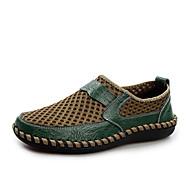 baratos Sapatos Masculinos-Homens Sapatos Tule Verão Conforto Tênis Sem Salto Ponta Redonda Marron / Azul Marinho / Verde
