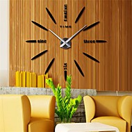 "Modern/Contemporary Country Casual Office/Business Others Classic Theme Wall Clock,2"" Diamond EVA Stainless steel Indoor/Outdoor Indoor"