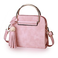 Women Bags All Seasons PU Shoulder Bag for Casual Office & Career Black Blushing Pink Gray