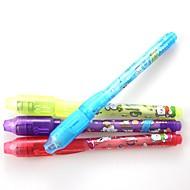 preiswerte Bürobedarf & Dekorationen-3pcs unsichtbare Tintenfeder Magic Pen Werbegeschenke Pens Geheimnis schreiben 2 in 1 Magie unsichtbare Tinte Stift Sicherheitsmarke für