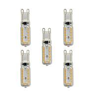 billige -5 stk 4W G9 LED-lamper med G-sokkel T 24 leds SMD 2835 Varm hvit Hvit 320lm 3000-3500/6000-6500K AC 220-240V