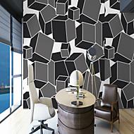 billige Tapet-3D Spesielt design Geometri Hjem Dekor Enkel Stil Moderne / Nutidig Tapetsering, Lerret Materiale selvklebende nødvendig Veggmaleri, Tapet