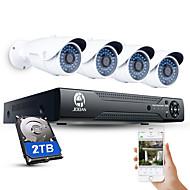 jooan®4ch cctv nvrシステムh.264 poe 1080pビデオ出力防水IPカメラ、2tb hdd