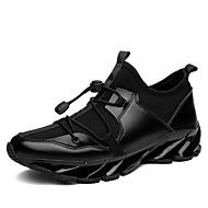 baratos Sapatos de Tamanho Pequeno-Homens Lona Verão / Outono Conforto Tênis Corrida Branco / Preto / Vermelho