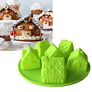 billige -Bakeware verktøy Silikon baking Tool / 3D / Kreativ Kjøkken Gadget Dagligdags Brug / Brød / Kake 3D Cake Moulds 1pc