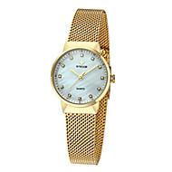 billige Quartz-Dame Quartz Armbåndsur Japansk Kronograf / Vandafvisende / Kreativ / Selvlysende Rustfrit stål Bånd Vedhæng / Luksus / Glitrende / Punkt