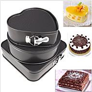 3 Stk /  Sett Kake Til Kake Metall