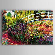 billiga Landskapsmålningar-Hang målad oljemålning HANDMÅLAD - Landskap Modern Duk / Sträckt kanfas