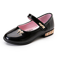 cheap Girls' Shoes-Girls' Shoes Synthetic Summer Fall Flower Girl Shoes Moccasin Comfort Loafers & Slip-Ons Beading Flower for Party & Evening Dress Black