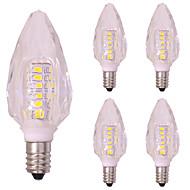 billige Stearinlyslamper med LED-5 stk 3W E14 LED-lysestakepærer T 40 leds SMD 2835 Varm hvit Kjølig hvit 260lm 2800-3500;5000-6500K AC 220-240V