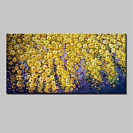 Hand-Painted Floral/Botanical Horizontal,Abstract Modern One Panel Canvas Oil Painting For Home Decoration