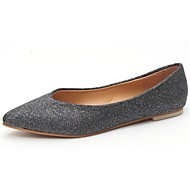 cheap Women's Flats-Women's Shoes Rubber Fall Comfort Flats Flat Heel Pointed Toe Sequin for Outdoor Gold Black Silver