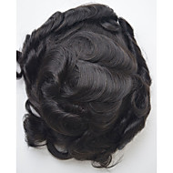 6x9 Swiss Lace Toupee for Men Indian Hair System Piece Natural Color