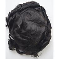 Erkekler için 6x9 İsviçre prenses dantel toupee indian saç sistem parçası doğal renk