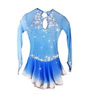 Haljina za klizanje Žene Djevojčice Korcsolyázás Haljine Pale Blue Spandex Štras Visoka elastičnost Seksi blagdanski kostimi Odjeća za