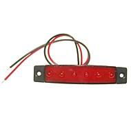 sencart 12pcs 6led 2835smd piros lámpa fék oldaljelzője motorkerékpár indikátorok dc12v