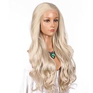 Naisten Synteettiset peruukit Lace Front Pitkä Laineikas Vaaleahiuksisuus Luonnollinen hiusviiva Lolita Wig Juhlaperuukki Julkkis