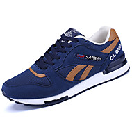 Men's Sneakers Comfort Light Soles Spring Fall Tulle Casual Outdoor Lace-up Flat Heel Navy Blue Gray Black Flat
